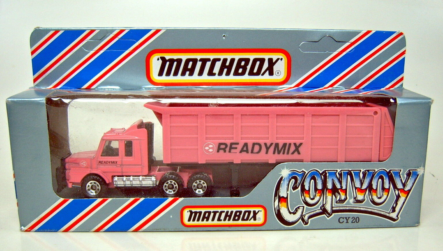 Matchbox Convoy CY20 Scania Tipper  Readymix  pink rare Werbeversion