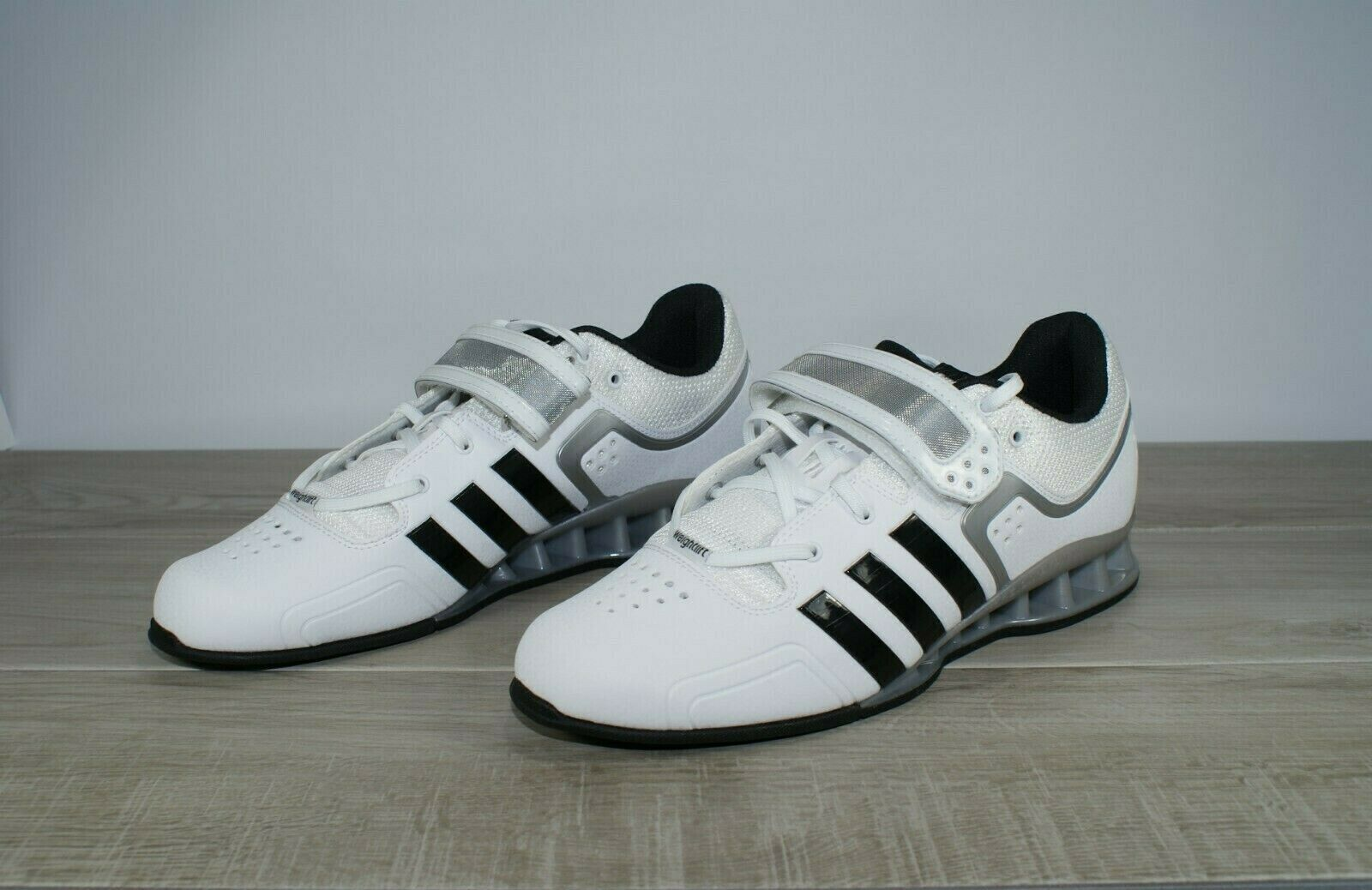 Adidas AdiPower Weightlifting Powerlift Trainer shoes White M25733 Mens Sz 14