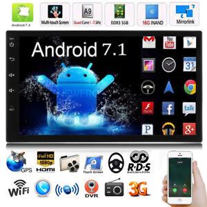 "2DIN 7"" Android 7.1 Quad Core 3G Car Radio Stereo MP5 Player WIFI GPS FM Radio"