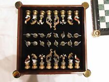 Franklin Mint Sportsman Trophy Wildlife Chess Set with case and chess pieces!