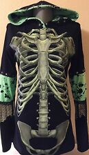 DiY Ribcage Hoodie Skeleton Goth Rock Unique Regular or 1X Plus Size