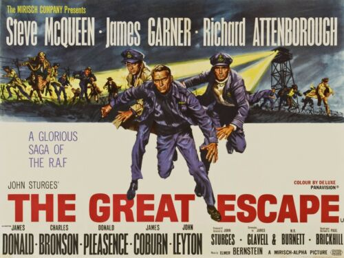 "The Great Escape Movie Silk Fabric Poster 12/""x16/"" 24/""x32/"""