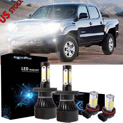 8000K IceBlue LED Headlight+Fog Light for Toyota Tundra 2014-2018 Tacoma 2012-15