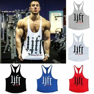 gym tank men singlet muscle stringer top shirt bodybuilding tops Gym Lifting