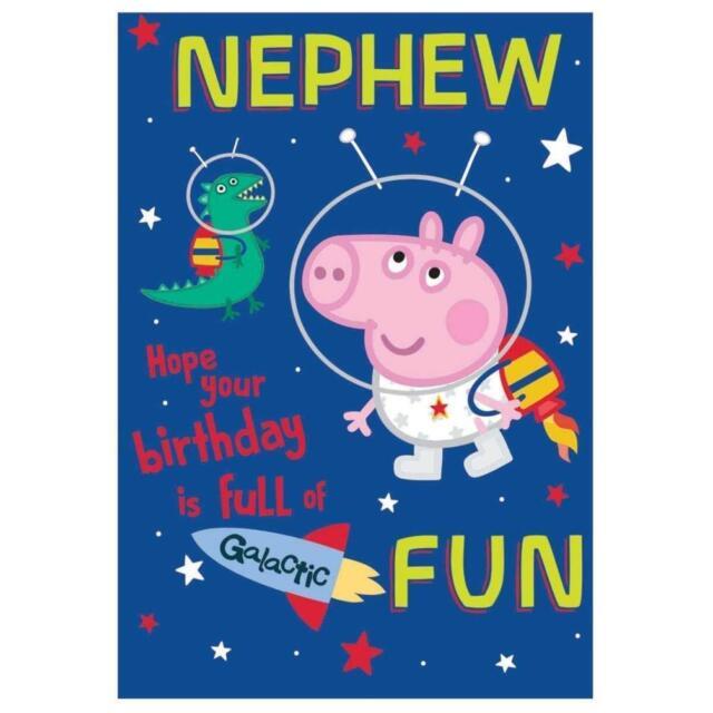 Peppa Pig Nephew Happy Birthday Card Spaceman George Gift Ebay