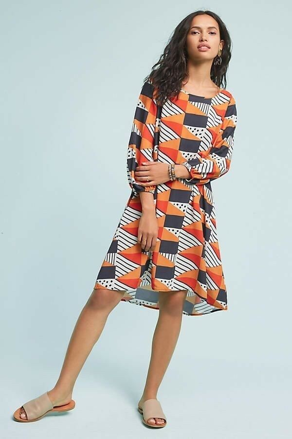 NWT ANTHROPOLOGIE TRIANGLES & DOTS- SIZE SMALL