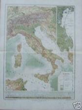 ANTICA CARTOGRAFIA_LAGUNA VENETA_MONTAGNE D'ITALIA_RARA