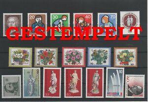 Germany-Berlin-vintage-yearset-1974-Postmarked-Used-complete-More-Sh-Shop