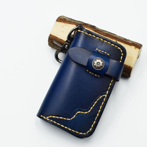 Men/'s Genuine Leather Key Wallet Cowhide Unisex Card Case Car Key Bag Key Holder