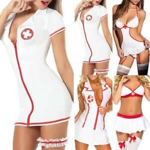 DamenSexy Nachtwäsche Rollenspiel Dessous Krankenschwester Cosplay Erotik Kostüm