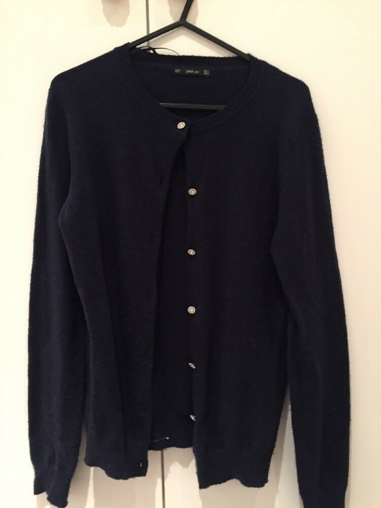 ec1c0d2aa Zara Navy Cardigan Size Small S Knit nnsbcq11885-Jumpers   Cardigans ...