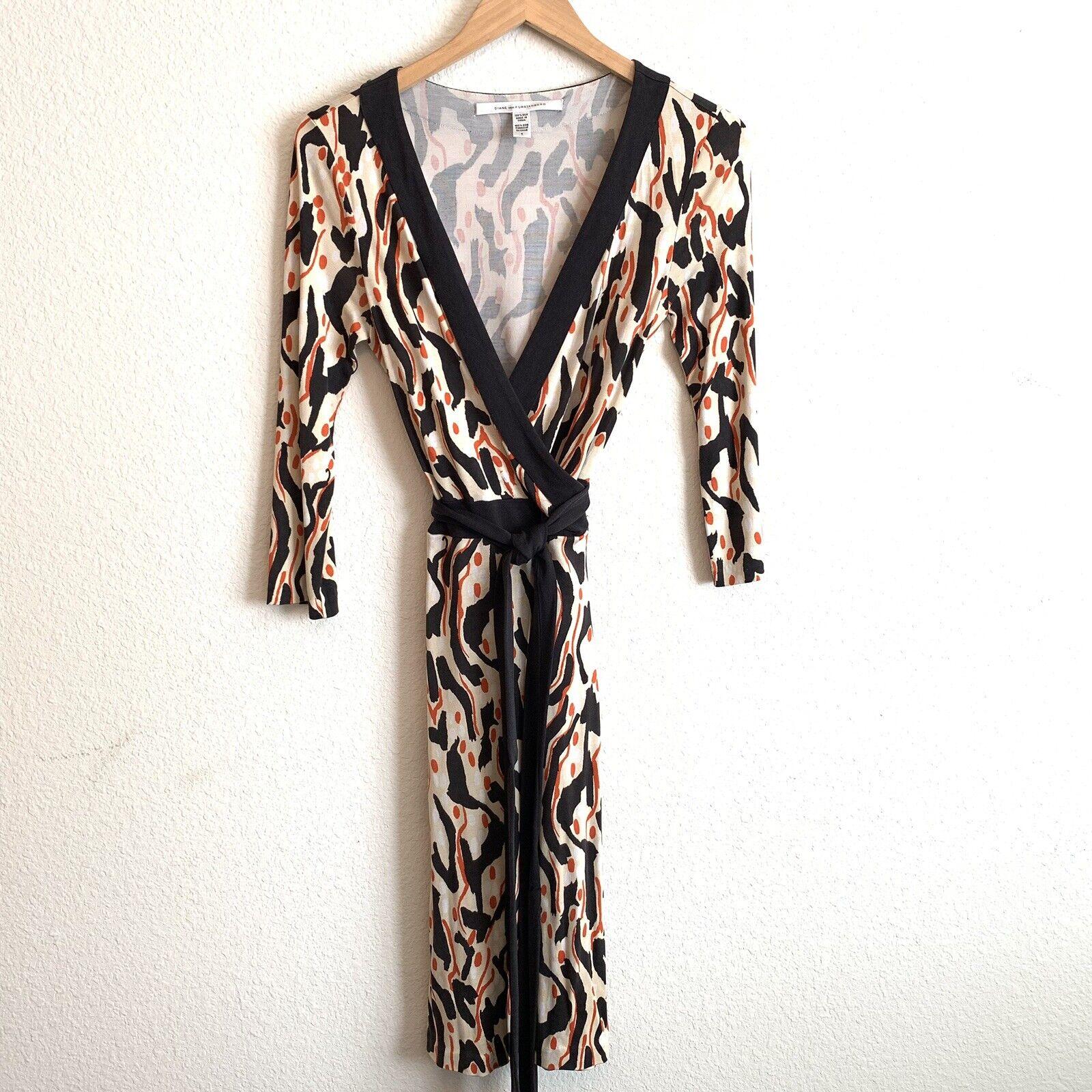 DIane Von Furstenberg Taurus Wrap Dress Sz 6