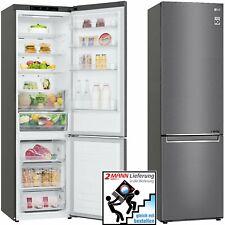 LG A+++ Kühlkombination Dark-Graphite Edelstahl Total NoFrost Stand 384L