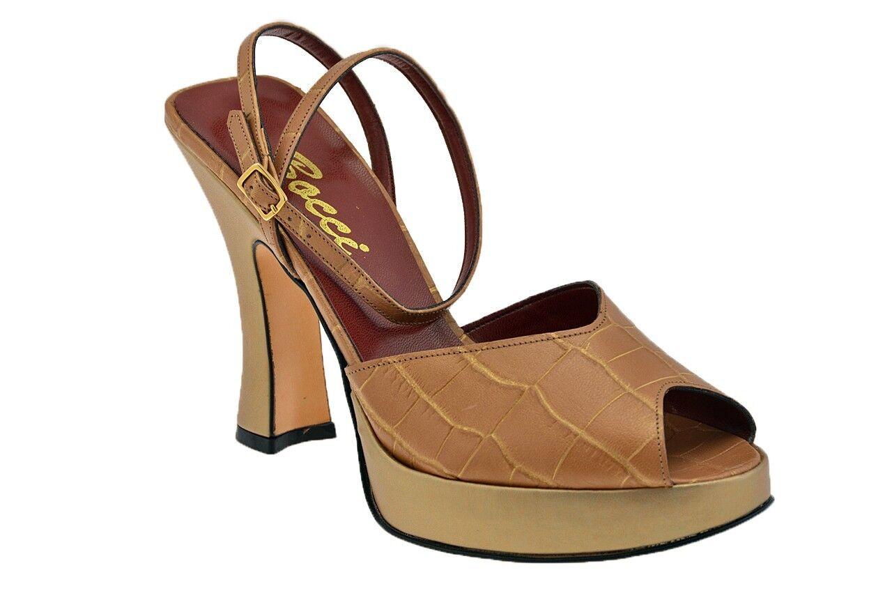 Bocci 1926 Zapato Meseta T.110 Corte es Bomba Nuevo BEI chaussures MODA femmes