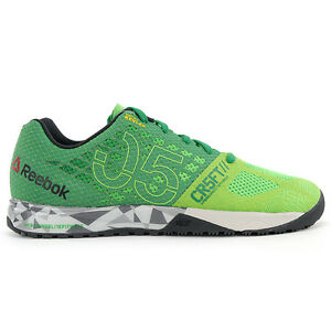 Reebok Men's CrossFit Nano 5.0 Green/Black/Shark Training Shoes V72412 NEW!