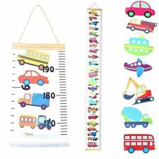 zhoushengmeizhuang Baby Growth Chart Kids Height Charts Canvas Hanging Nursery Wall Decor Removable Height Measurement Ruler for Kids Baby Boys Girls Bedroom Decoration Flower-A