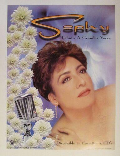 VINTAGE PROMO POSTER / SOPHY / TRIBUTO A GRANDES VOCES 1997 / SIGNED
