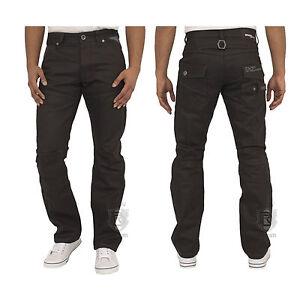 Mens-Jeans-Ez329-In-Black-Colour-Straight-Leg-Designer-Pants-All-Sizes-28-To-48