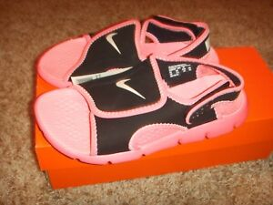 25c8c44f4d96 NIKE Sunray Adjust 4 Sandals Digital Pink Black Platinum Size 3 ...