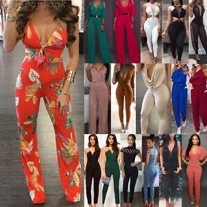 femme combinaison femmes col V soirée pantalon vêtement de Loose Tunique Body
