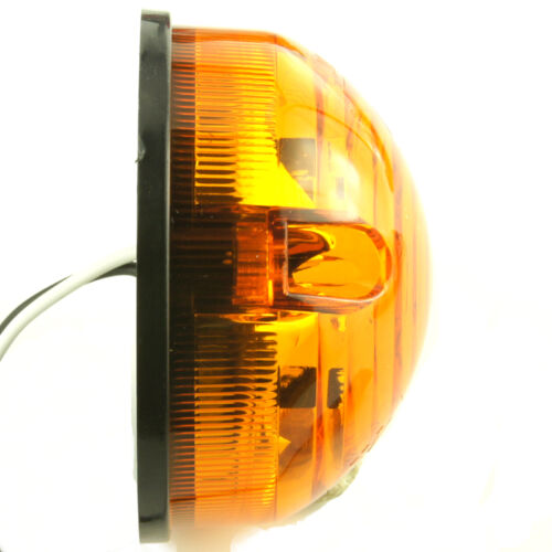 Classic LED 73mm Amber Indicators Pair Surface Mount For Land Rover Kit Car