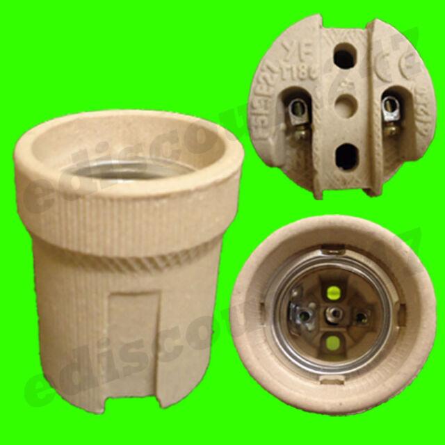 HIGH QUALITY CE CERTIFIED ES E27 Ceramic Screw Lamp Socket Base Holder UK SELLER