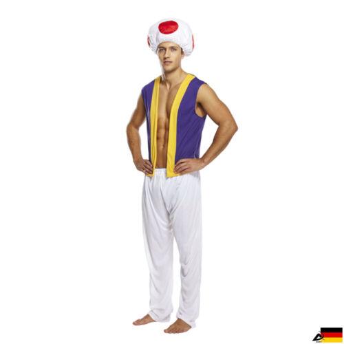 Herren Mushroom Pilze Champignon Kostüm JGA 1000 Nächte Märchen Fasching Ali