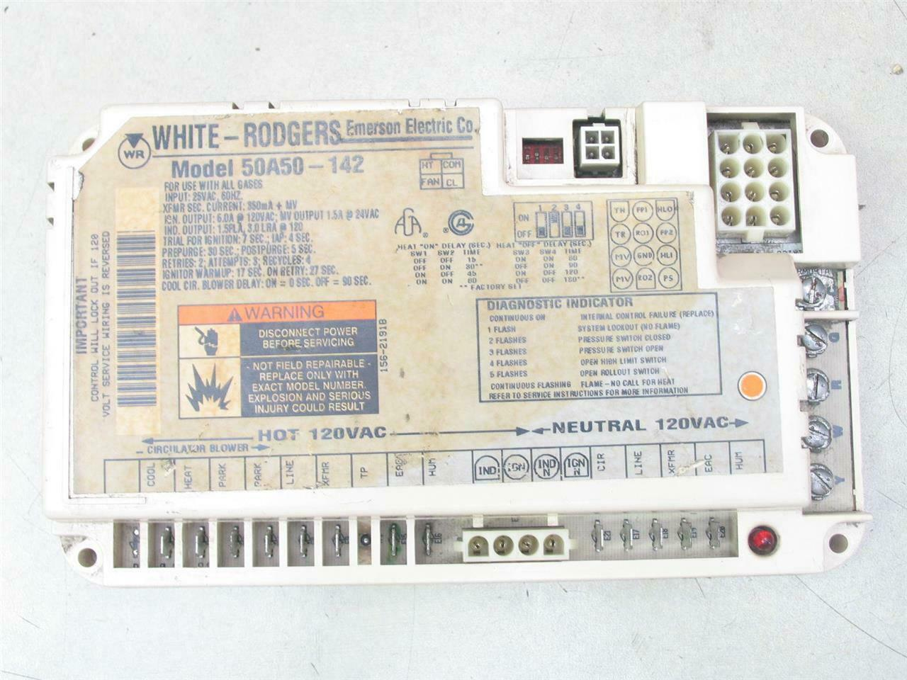 White-Rodgers 50a52-111 Ignition Control Circuit Board ICP