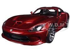 2013 DODGE VIPER SRT GTS METALLIC RED 1/24 DIECAST MODEL CAR BY MAISTO 31271