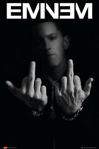 Eminem-Fingers-POSTER-61x91cm-NEW-Marshall-Mathers-middle-finger-f-you