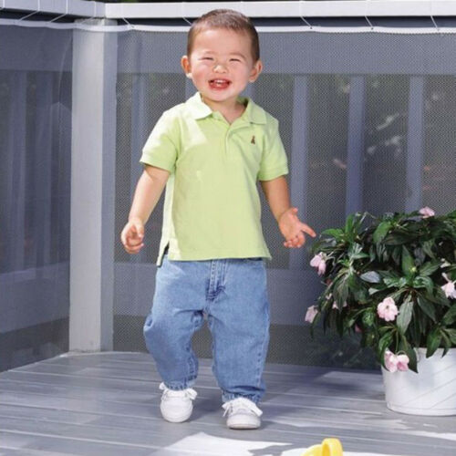 SN/_ AM/_ SAFETY CHILD RAILNET NET PET GUARD BABY STAIR BALCONY DECK GATE DOG ME
