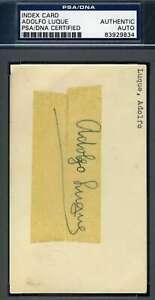 Adolfo-Luque-PSA-DNA-Coa-Autograph-Hand-Signed-3x5-Index-Card