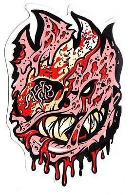 Spitfire Wheels - Fleshy Zombie Skateboard Sticker - Monster skate snow surf
