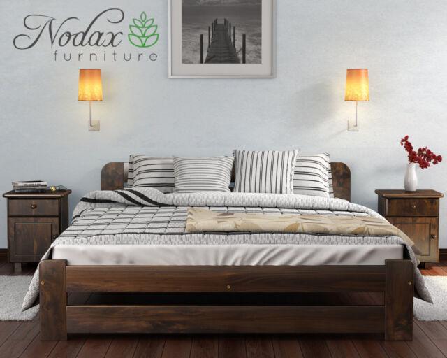 Solid Wooden Bedroom Furniture Bedframe 6ft Bedside Cabinet Underbed ...