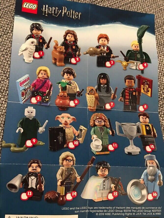 Harry Potter Minifigures Lot Complete Set Of 16 Sealed Does Not Include F Beasts