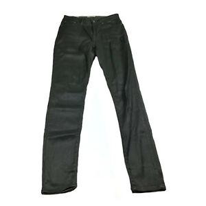 2a09838948659 Jag Womens Jeans Size 10 Black Shiny High Rise Skinny Ankle Grazer ...
