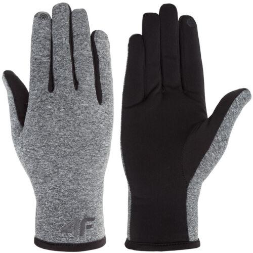 hive outdoor 4F Handschuhe Strickhandschuhe Sporthandschuhe Winter grau schwarz