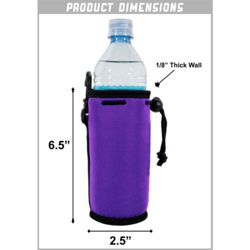Blank Neoprene Water Bottle Coolies with Full Bottom; choice of color quantity