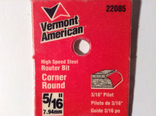 """Vermont American 22085 High Speed Steel 5//16/"""" Corner Round"""