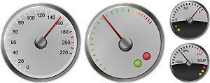 Ninos-paseo-en-coche-de-pedales-Speedo-Rev-De-Combustible-Y-Temperatura-Sticker-Set-4-Gauges
