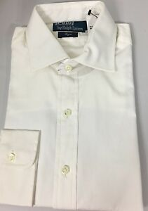Polo-Ralph-Lauren-Dress-Shirt-Mens-15-5-39-Regent-Fit-White-Cotton-MSRP-125
