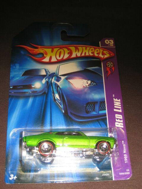 green 2007 Hot Wheels 1968 Nova Redline #98