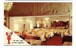 Details About Vintage Postcard Eugene S Restaurant Milwaukee Wi Sign Of The Lobster Seafood