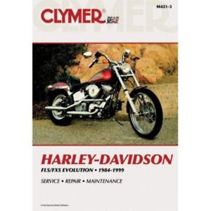Clymer Workshop Manual Harley FLS FXS Evolution EVO 1984-1999 Service Repair