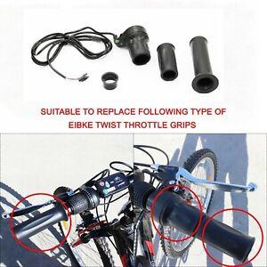 24//36//48V Electric Scooter E-Bike Throttle Grip Handlebar Rubber Non-slip 120cm