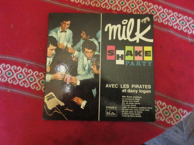 VINYLE 33T 25CM LES PIRATES MILK SHAKE PARTY(BEL AIR 311025)