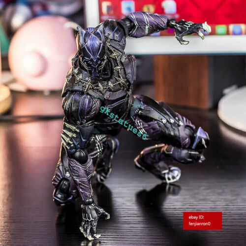Marvel Universe Variant Play Arts Kai Black Panther PVC Action Figure IN BOX