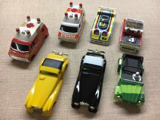 LOT OF 7 AURORA ORIGINAL AFX HO SLOT CAR & VAN BODIES - NEW OLD STOCK