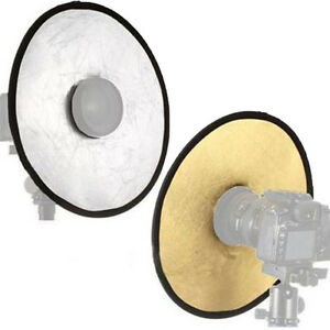 Cool Collapsible 30cm 2 in 1 Light Round Photography Hollow Reflector For Studio