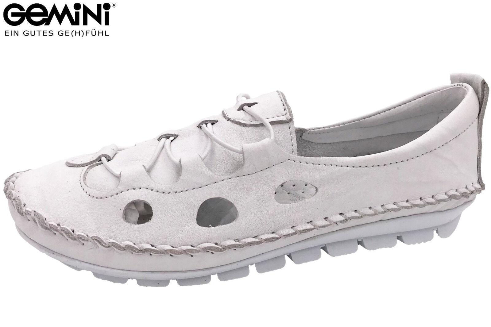 Gemini Damen Slipper Weiß Sommer Schuhe Leder Slip On 3115-001 NEU